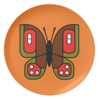 retro butterfly 04 plate