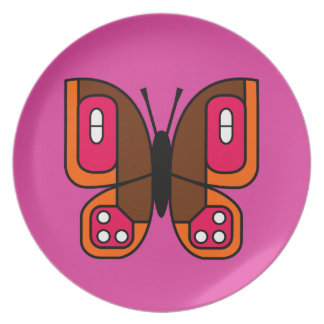 retro butterfly 05 plate