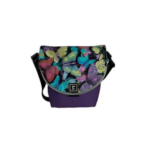 Retro Butterfly bag. Ultra girly. Courier Bag