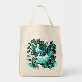 Retro butterfly design tote bag