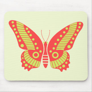 Retro Butterfly Mousepad Mouse Pad
