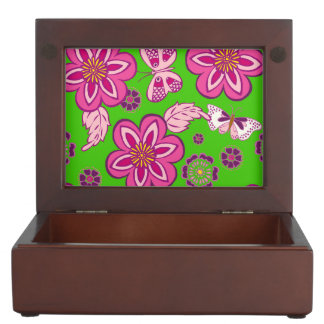 Retro Butterfly Pattern Memory Boxes