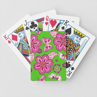 Retro Butterfly Pattern Bicycle Card Deck