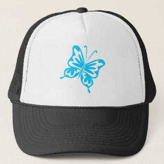 Retro Butterfly - Sky Blue Trucker Hat