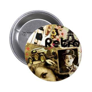 Retro 2 Inch Round Button