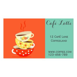 Retro cafe coffee shop vintage stylish business card