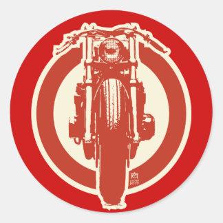 Retro Cafe Sticker (red)