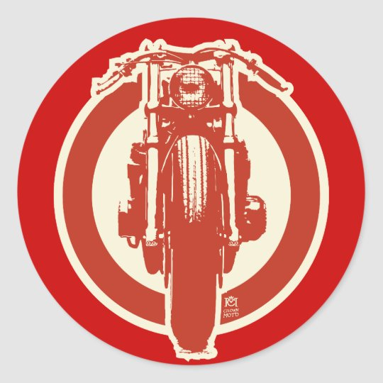 Retro Cafe Sticker (red)