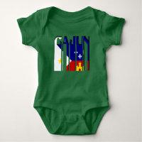 08294b1a94976f Retro Cajun Acadiana Flag Louisiana Baby Outfit