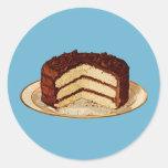 Retro Cake Round Stickers