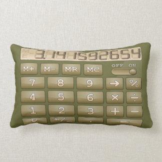 Retro Calculator Green Pillow