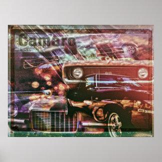 Retro Camaro Poster