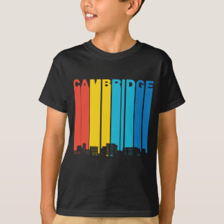 Retro Cambridge Massachusetts Skyline T-Shirt