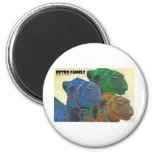 retro camels 2 inch round magnet