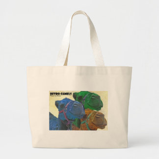 retro camels large tote bag