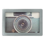 Retro camera belt buckle
