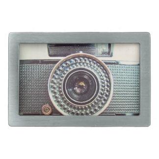Retro camera belt buckles