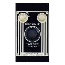 retro, vintage, camera, photography, kodak, brownie target six-20, retro camera, vintage camera, kodak brownie, business card, old, cool, photo, lens, classic, film, business, card, Business Card with custom graphic design