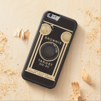 Retro camera brownie target. carved maple iPhone 6 bumper case