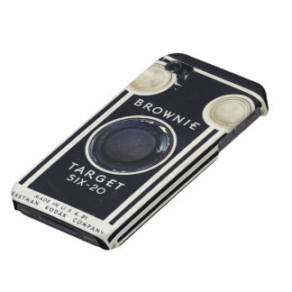 Retro camera brownie target. iPhone 4 covers