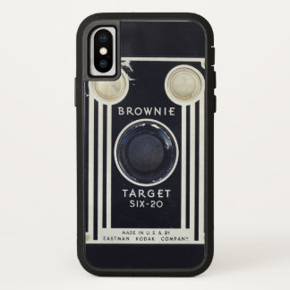 Retro camera brownie target. iPhone x case