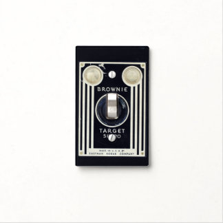 Retro camera brownie target light switch cover