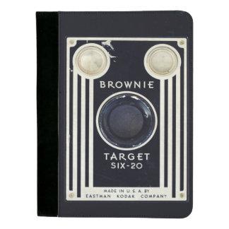 Retro camera brownie target. padfolio
