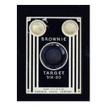 Retro camera brownie target. postcard