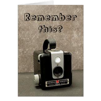Retro Camera Card