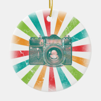 Retro Camera Ceramic Ornament