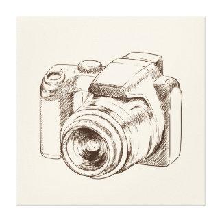 Retro camera illustration canvas print