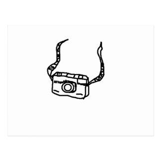 retro camera in basic artistic concept postcard