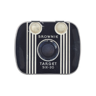 Retro camera kodak brownie target candy tin