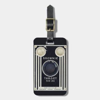 Retro camera kodak brownie target bag tags