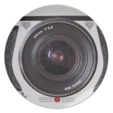 Retro Camera Lens Novelty Plate at Zazzle
