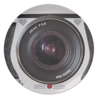 Retro Camera Lens Novelty Plate at Zazzle