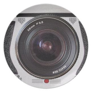Retro Camera Lens Novelty Plate