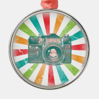 Retro Camera Metal Ornament