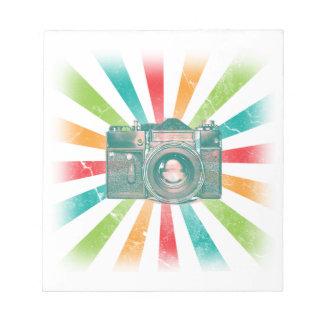 Retro Camera Notepad