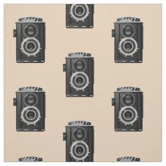 "RETRO CAMERA PATTERN Pima Cotton (54"" width) Fabric"