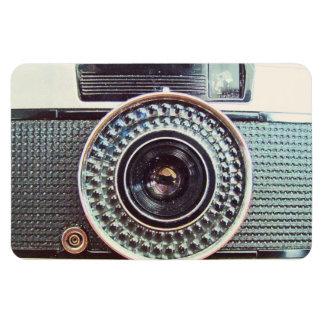 Retro camera rectangle magnets