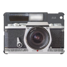 Retro Camera Scroll FX Flash Mini iPad Case at Zazzle