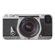 Retro Camera Scroll FX iPhone 4/4S Barely There iPhone 4 Case-Mate Case at Zazzle