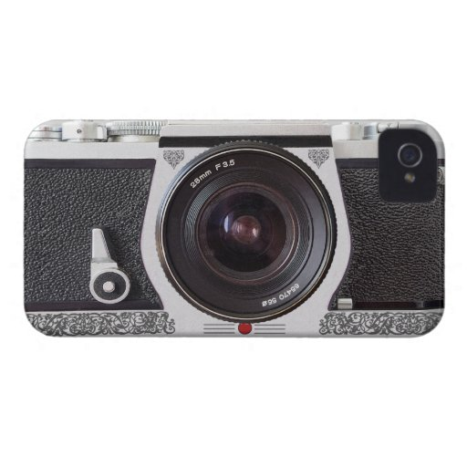 Retro Camera Scroll FX iPhone 4/4S Barely There Case For The iPhone 4