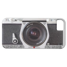 Retro Camera Scroll Fx Iphone 5 Monogram Case at Zazzle