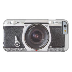 Retro Camera Scroll Fx Iphone 6 Case Monogram Case at Zazzle