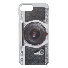 Retro Camera Scroll FX iPhone 7 case Monogram Case at Zazzle