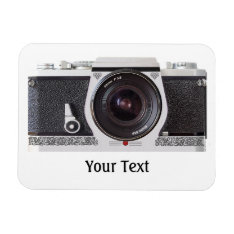 Retro Camera With Scroll Flexible Magnet at Zazzle