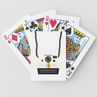retro camera with strap bicycle playing cards