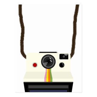 retro camera with strap postcard